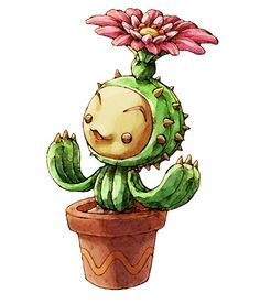 Lil Cactus. One of my favorite game characters, and all he does is sit in a hot house lol