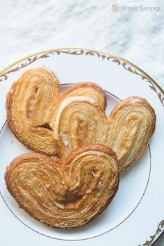 Palmiers (Elephant Ears) ~ Quick and easy to make palmiers, or elephant ear cookies, with puff pastry and sugar. ~ SimplyRecipes.com