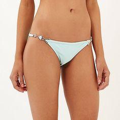Light green Pacha embellished bikini bottoms
