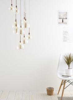 Carmella 10 light cluster - Illuminate Atelier - Home, Lighting & Furniture - BHS Cool Light Fixtures, Pendant Light Fixtures, Room Lights, Ceiling Lights, Cool Lighting, Lighting Design, Cluster Lights, Dining Room Lighting, Kitchen Lighting