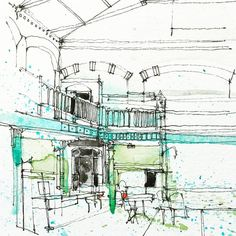 Simone Ridyard @simoneridyard в Instagram: «Detailed part of the interior Victoria Baths, Manchester #aquarell #art #painting #watercolor #sketch #paint #drawing #sketching #sketchbook #travelbook #archisketcher #sketchaday #sketchwalker #sketchcollector #artjournal #traveldiary #topcreator #usk #urbansketchers #скетчбук #скетч #скетчинг #pleinair #aquarelle #watercolorsketch #usk #architecture #england