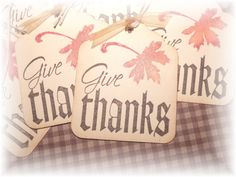Give Thanks  Happy Thanksgiving Gift/Hang Tags 8 by HeartsCalling on ETSY