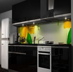 Splash guard for the kitchen - 85 new ideas for the back of the ...