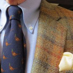 Wearing the Ivy League Look since 1958: Autumn Tweed sport coats: Worn with game bird and hunting dog ties