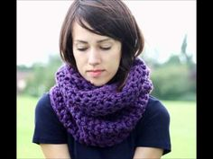 Circle Scarves Crocheted Infinity Scarves
