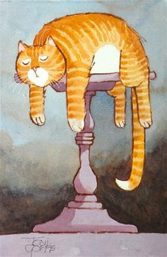 """Daily Paintworks - """"Table Sieata"""" - Original Fine Art for Sale - © Toni Goffe"""