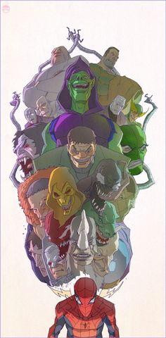 "The Geek-Art of Coran ""Kizer"" Stone, Spider-man ""Sensing Evil""   Follow here http://pinterest.com/cakespinyoface/geekery/ for even more Geekery-- art, tech and more!"