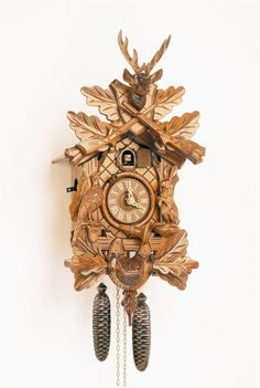 Model 8t 205g 7 Hunter S Cuckoo Clock With Live Animals