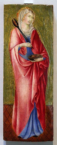File:Duccio - Sainte Agathe.jpg - Saint Agatha of Sicily with pincers and breasts on a platter a nice easy Halloween costume.