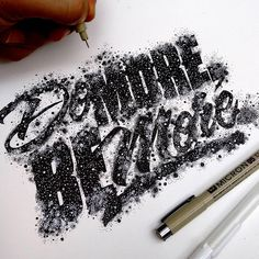 Hand-lettering designs by Juantastico