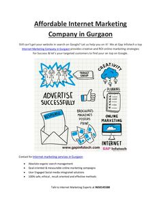 Stream What's new with you? Text Photos Link Video Event Poll  GAP Infotech Shared publicly  -  1:16 PM   Make Successful Business Brand with Affordable Internet Marketing Company in Gurgaon  #internetmarketing   #internetmarketingcompanygurgaon   #internetmarketingcompanyingurgaon