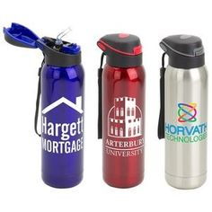 17oz Pop-Top Vacuum Insulated Stainless Steel Bottle.  18/8 Stainless steel construction. Double wall insulated. Keeps beverage hot for up to 12 hours and cold for up to 24 hours with ice. Pop up top reveals built-in straw. Complete with lanyard. #corporate gifts #tradeshow giveaways