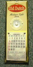 OLD DUTCH BEER THERMOMETER METAL TOC - TIN OVER CARDBOARD SIGN CATASAUQUA PA