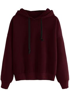 SweatyRocks Sweatshirt Women Pullover Fleece Drop Shoulder Hoodie
