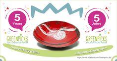 5 YEARS GREENPICKS ! – #RECYCLING RAFFLE! - Win a bowl made of recycled materials.||| 5 Jahre Greenpicks - Recycling Gewinnspiel - Gewinne eine Schale aus recycelten Materialien