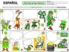 Spanish St. Patrick's Day Label the Leprechaun Body Parts ...