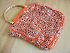 oranje groen tas by jellina-creations, via Flickr