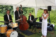 The Mark Bremner band playing great music whilst drinks and canapes are served.