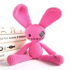 Ravelry: Zombie bunny - Cute undead rabbit - Amigurumi soft toy - Children's toy - Weird stuffed animal pattern by Kristi Tullus