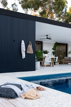 Outside In by Denise - Oakford Project Outdoor Areas, Outdoor Rooms, Outdoor Living, Backyard Pool Designs, Swimming Pools Backyard, Backyard Pool Landscaping, Pool Landscape Design, Garden Design, Pool Cabana