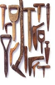 new and antique garden tools - Google Search Old Garden Tools, Garden Tool Shed, Garden Tool Storage, Farm Tools, Old Tools, Gardening Tools, Organic Gardening, Planting Tools, Garden Rake