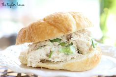 Blog post at The Taylor House : The perfect picnic recipe for the summer is this easy chicken salad.  I love a good chicken salad sandwich but don't seem to make it as oft[..]