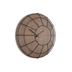 Discover the Umbra Cage Wall Clock - Black/Walnut at Amara