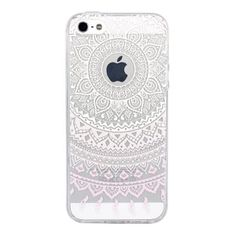 Iphone SE case, JIAXIUFEN Clear TPU Silicone Gel Back Cover Skin Soft Case for iPhone 5 5S SE - Light Pink and White Dream Catcher