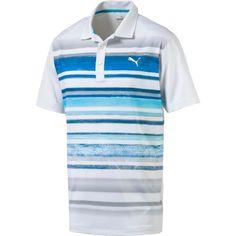 Striped Polo Shirt, Puma Mens, Golf Polo Shirts, Mens Golf, Sweaters, Blue, Shopping, Bright, Medium