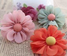 Envío gratis bricolaje accesorio del pelo ramillete accesorios bolsas de zapatos hechos a mano de la gasa de los granos de tela Rose Material tela(China (Mainland))