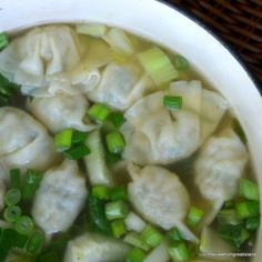 Miso Wonton Soup is healthy, hearty comfort food that can be on the table in less than 30 minutes. Yotam Ottolenghi, Clean Eating, Healthy Eating, Healthy Soup, Healthy Recipes, Gyoza, Soup Recipes, Cooking Recipes, Dumplings For Soup