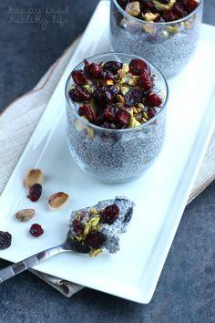 Cranberry Pistachio Coconut Chia Pudding | Happy Food, Healthy Life
