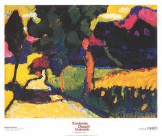 Wassily Kandinsky - Sommerlandschaft Murnau, 1909
