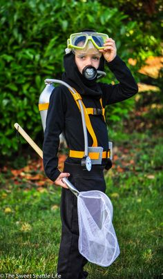 Dress up your kids in fun DIY Halloween costumes you make with everyday household items. Scuba Diver Glenn Glasser; Styling: Kristine Trevino. Take the plunge with an ensemble you can assemble from your child's summer wardrobe: board shorts, a rash guard, and water shoes (walking in flippers will definitely cut into trick-or-treat time).
