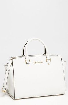 I got this bag for christmas and i absoulutly love it ! MICHAEL Michael Kors 'Selma - Large' Leather Satchel | Nordstrom