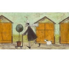 Sam Toft - Taking the little tree for a walk - Limited Edition Print