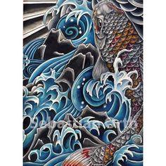 Koi tattoos and art on pinterest koi fish tattoo koi for Koi prints for sale