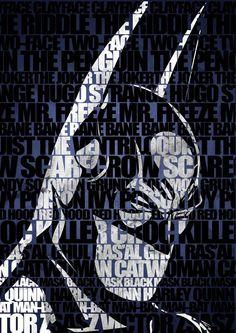 Batman by Fabio Frangione, via Behance