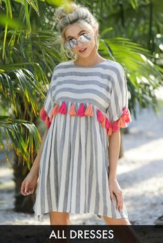 Dresses - Women's Outfits for Sale - Shop Red Dress Boutique Blue Jumpsuits, Jumpsuits For Women, Striped Jumpsuit, Striped Dress, Shop Red Dress, Short Lace Dress, White Maxi Dresses, Lace Tops, Beautiful Dresses