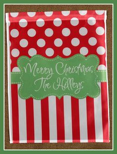 Garden Flag Christmas Monogrammed Personalized by ChicMonogram