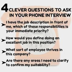 Preparing for phone interview questions. How to ace a phone job interview. Job Interview Preparation, Interview Questions And Answers, Job Interview Tips, Thank You After Interview, Interview Questions For Employers, Job Resume, Resume Tips, Resume Skills, Resume Ideas