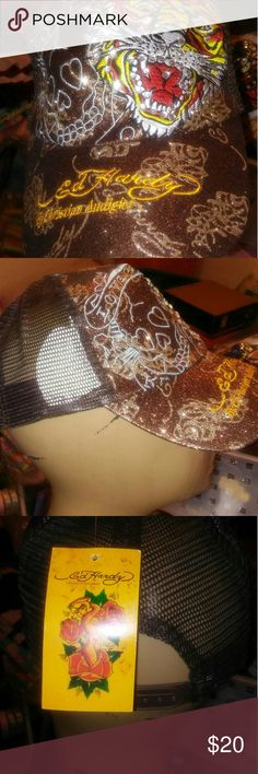 4cf8c43f24a Sexy Brown Bling ED Hardy Ballcap  Brand new!! Goes great with
