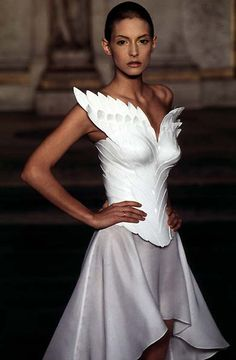 white winged corset - McQueen for Givenchy 1997 Haute Couture - gratefully…