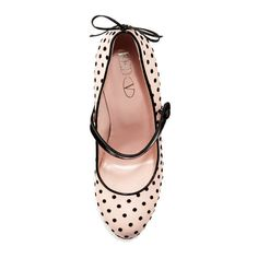 71a4efd6293d Red Valentino Polka-Dot Leather Mary Jane Pump (292010 IQD) ❤ liked on  Polyvore featuring shoes