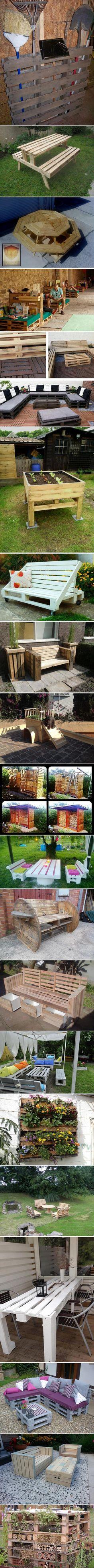 Quand les Palettes Customisent les Jardins (22 photos)