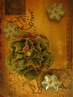 Handmade lovely vintage fabric handsewn into a pretty by darlyndax, $14.00