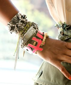 Stacked bracelets ~ best-dressed wrist in NYC