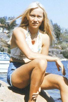 Agnetha Faltskog - young lady.