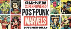 Marvel Superheroes as Punk Rockers / MasksandCapes.com