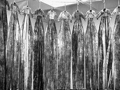 """Chiharu Shiota ~ """"Memory of Skin (2000) [installation: Kunstmuseum Bonn] via chiharu-shiota.com"""